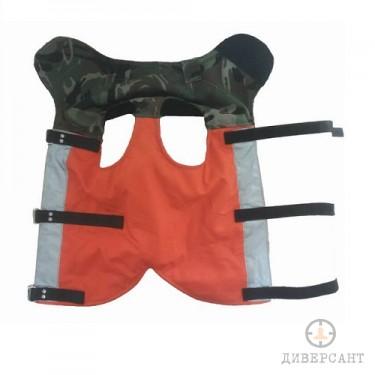 Отворена предпазна жилетка за ловни кучета