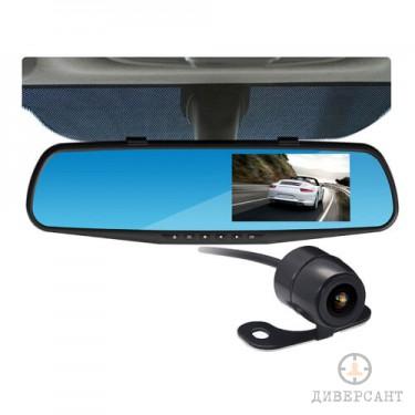 Full HD видеорегистратор огледало с допълнителна камера за задно виждане