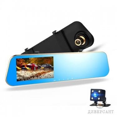 Видеорегистратор в огледало с допълнителна камера за задно виждане