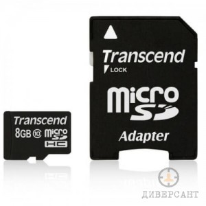 Карта памет MICRO SD CARD 8GB Transcend class 10