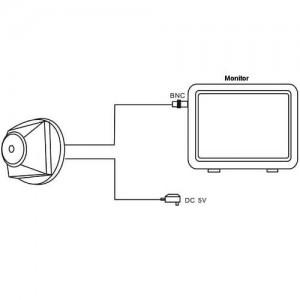 520TVL мини CCTV IR камера с нощно виждане 2