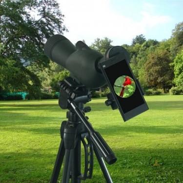 Специална стойка за телефон към ловни оптични уреди