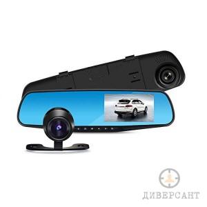Full HD видеорегистратор  вграден в огледало с допълнителна камера за задно виждане