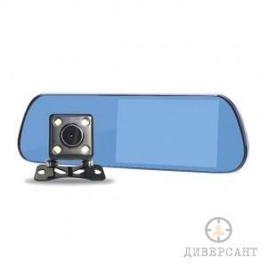 HD видеорегистратор в елегантно огледало за обратно виждане с допълнителна втора камера