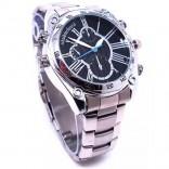 Ръчен часовник с метална верижка и камера