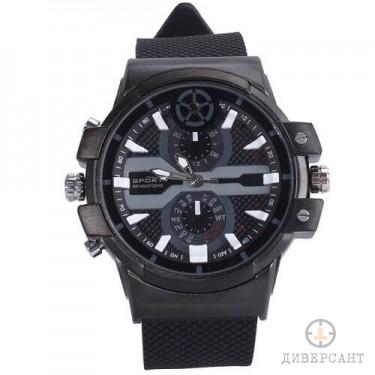 2К UltraHD Стилен ръчен часовник с незабележима скрита камера