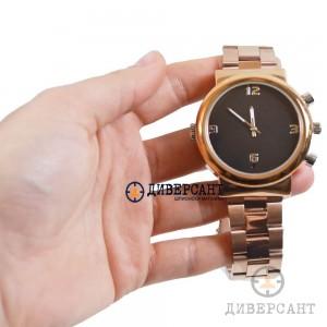 Водоустойчив ръчен часовник със скрита Full HD камера и чувствителен микрофон