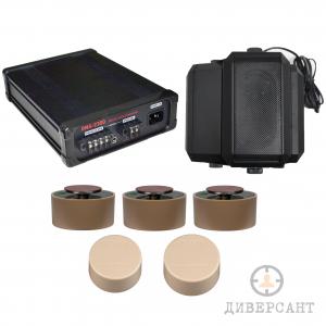 Система за заглушаване с три канален генератор на бял шум, 5 датчика и говорител