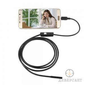 Бюджетен водоустойчив ендоскоп с 5 мм. камера за Андроид устройства