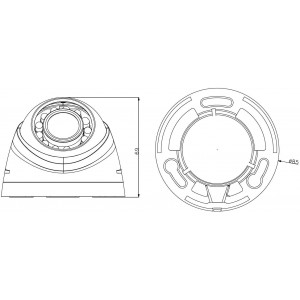 Вътрешна куполна видеокамера 1 мегапиксел  DAHUA HDCVI  2