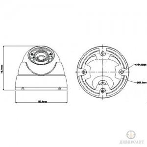 HDCVI куполна камера 1 МPixel DAHUA 2