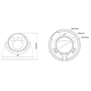 Водоустойчива куполна HDCVI камера DAHUA 1.4 мегапикселa (720p) 2
