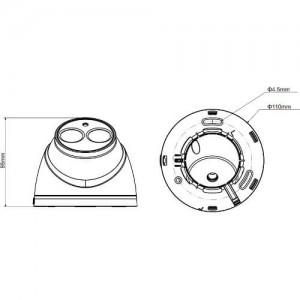 Водоустойчива 2.4-мегапикселова 1080р инфрачервена куполна HDCVI камера DAHUA 2