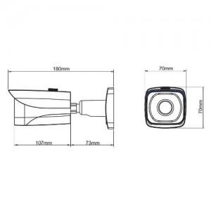 Водоустойчива HDCVI 1.4 мегапикселова булет камера DAHUA 2