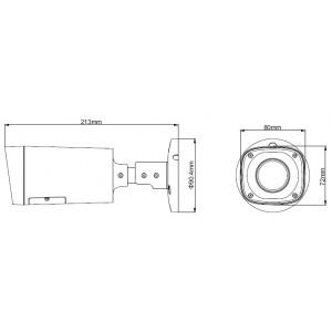 Инфрачервена водоустойчива 2.4 мегапикселова 1080р булет камера DAHUA  2