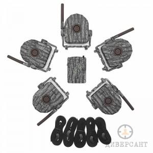 Безжична ловно-охранителна алармена система с приемник и 5 отделни PIR датчика