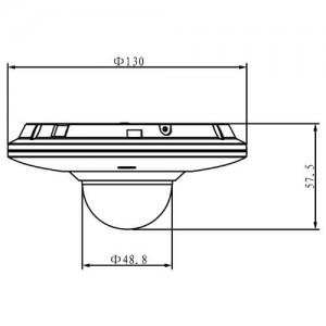 Водоустойчива удароустойчива моторизирана куполна IP видеокамера 3 мегапиксела DAHUA 2