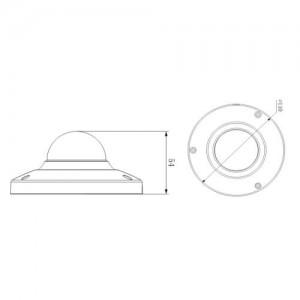 Куполна вандалоустойчива и водоустойчива 1.3 мегапикселова IP камера DAHUA 2