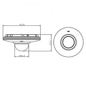 Куполна IP водоустойчива удароустойчива видеокамера с вграден микрофон слот за SD карта 3 мегапиксела DAHUA 2