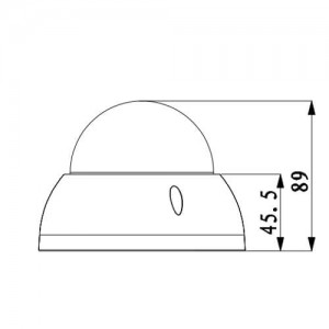 Вандалоустойчива водоустойчива куполна IP видеокамера 3 мегапиксела с нощно виждане DAHUA 2