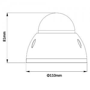 Ударо и водоустойчива куполна инфрачервена 4К IP камера DAHUA 2