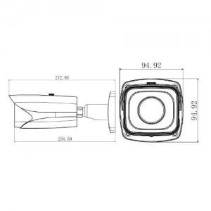 DAHUA 2 MegaPixel Full HD Power Zoom IP водоустойчива булет камера  2