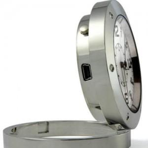 HD мини шпионска скрита камера в аналогов часовник с PIR сензор 2