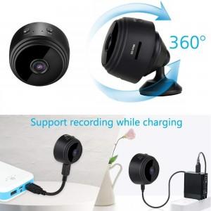 Мини магнитна WiFi скрита камера с HD качество и широкоъгълен обектив 2