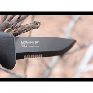 Нож с черно покритие MORA Tactical SRT 2