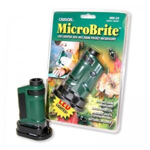 Детски джобен LED микроскоп MicroBrite 20x-40x увеличение на Carson 2