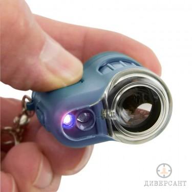 Джобен LED микроскоп ключодържател с увеличение 20х MicroMini Carson