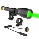 Зелен колиматор лазерен фенер за лов заместващ нощно виждане на оптика