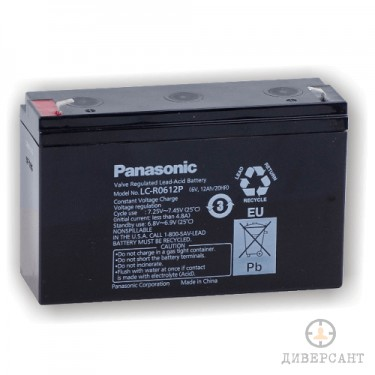 Презареждаема акумулаторна батерия Panasonic 6V 12AH