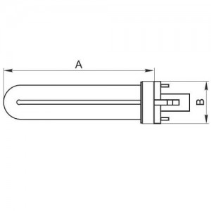 Резервна 9W UV лампа за детектори на банкноти  2
