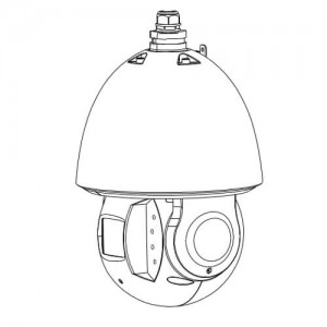 Въртяща PTZ IP видеокамера 2 MP водо-удароустойчива IR с автоматично проследяване на обекти StarLight DAHUA 2