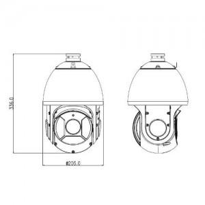 IP въртяща PTZ удароустойчива водоустойчива 4-мегапикселова видеокамера с 30-кратно оптично увеличение и нощно виждане DAHUA 2