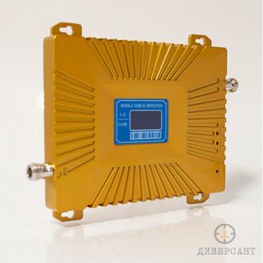 Усилвател на 2G 3G GSM сигнал с обхват 2000 квадратни метра Gold