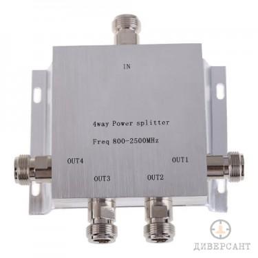 Четири канален сплитер за GSM усилвател и вътрешни антени