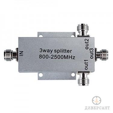 Сплитер за GSM усилвател с 3 канала за вътрешни антени