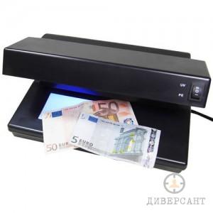 UV детектор за разпознаване на фалшиви банкноти с проверка и на воден знак
