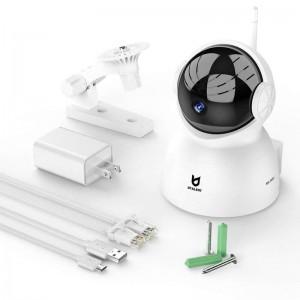 IP скрита камера бебефон с въртящ се механизъм и нощно виждане 2