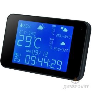 Мини IP WiFi скрита камера в настолен часовник с градуси и температура